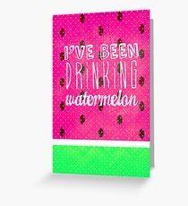 Drinking Watermelon Greeting Card