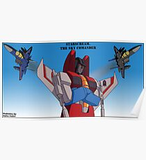 Starscream the Sky Commander Poster