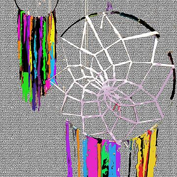 Abstract Dreamcatchers in the Fuzz by Tiffani