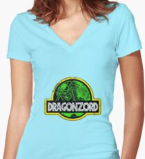 DragonZord  Women's Fitted V-Neck T-Shirt