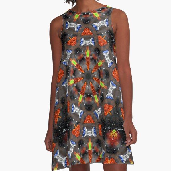 """""""Intergalactic Adventures"""" challenge kaleidoscope1 A-Line Dress"""