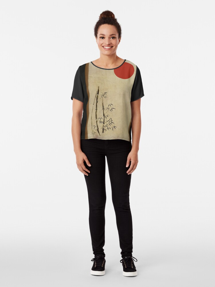Alternate view of Simple Destiny Chiffon Top