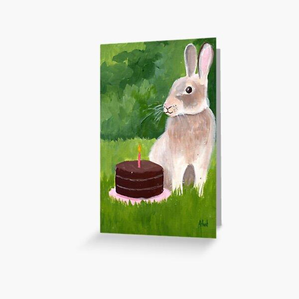 Bunny's Birthday Greeting Card