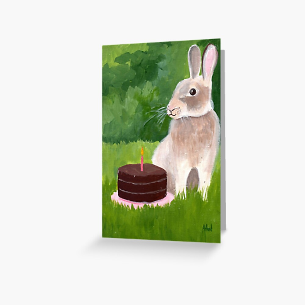 Bunny's Birthday Greeting Card