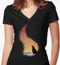 Davos at the pyre Women's Fitted V-Neck T-Shirt