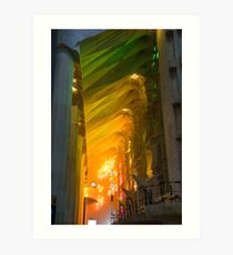 Rainbow Glass, sagrada Familia Art Print