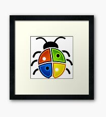 coloured bug Framed Print