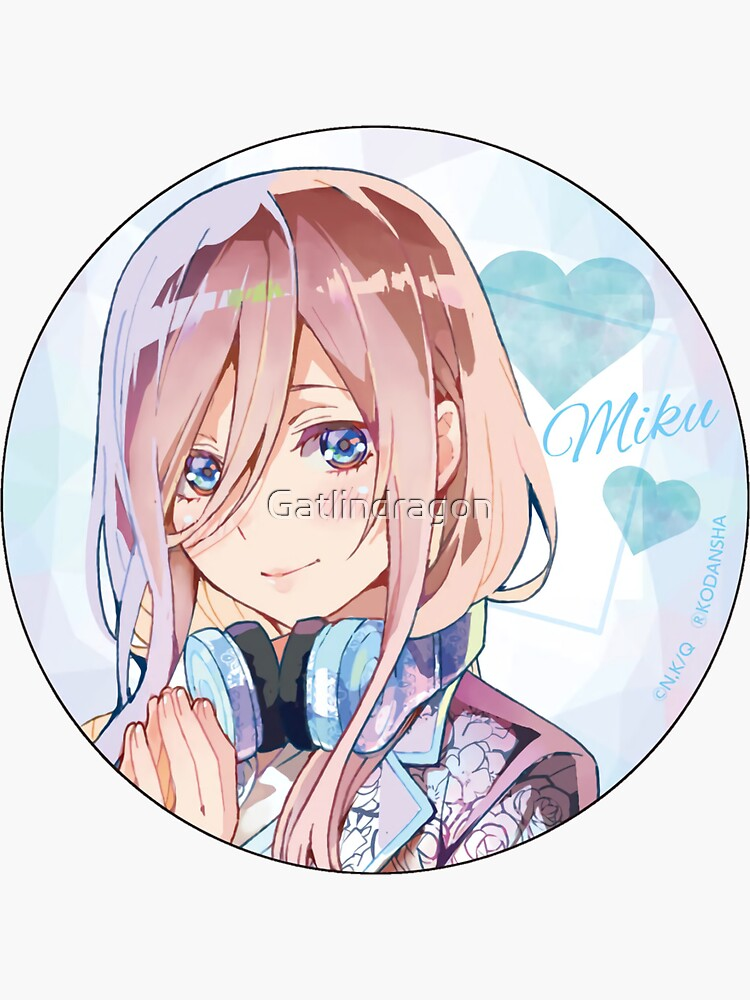 the quintessential quintuplets miku nakano sticker by