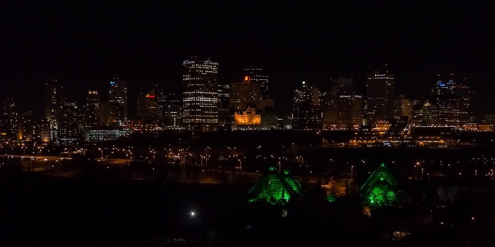 Edmonton, AB Skyline At Night by Christopher Samis