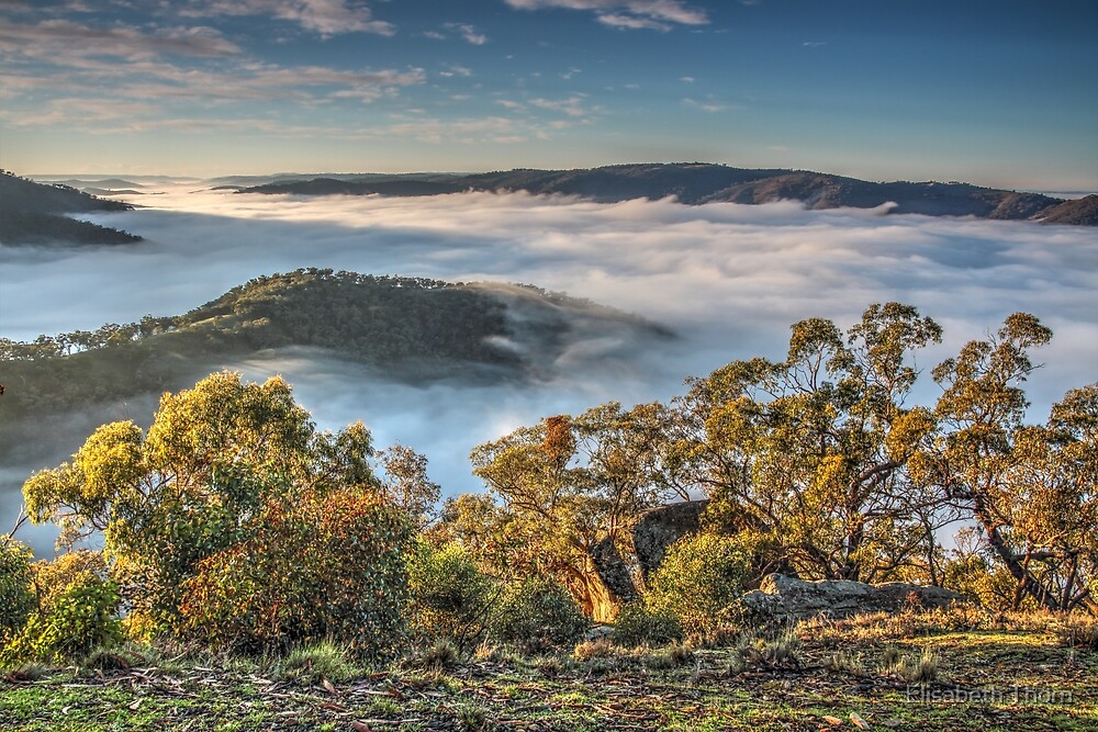 Sunrise at Kissing Point,Hill End. by Elisabeth Thorn