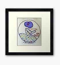 Thursday Purple Pie Baking Bonnet Lady Framed Print