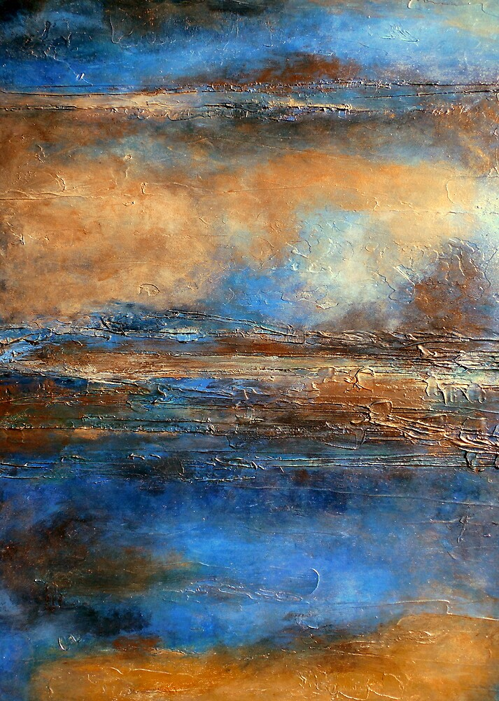 Fluid Acrylic Painting with Heavy Texture SKYRIM by hollyanderson