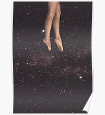 Hanging in space Poster