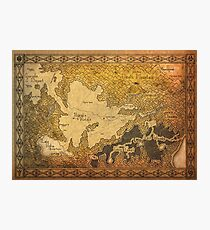 Zelda - Map of Hyrule burned details Photographic Print