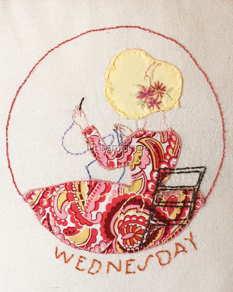 Wednesday Sewing and Mending Bonnet Lady by Urbanfringe