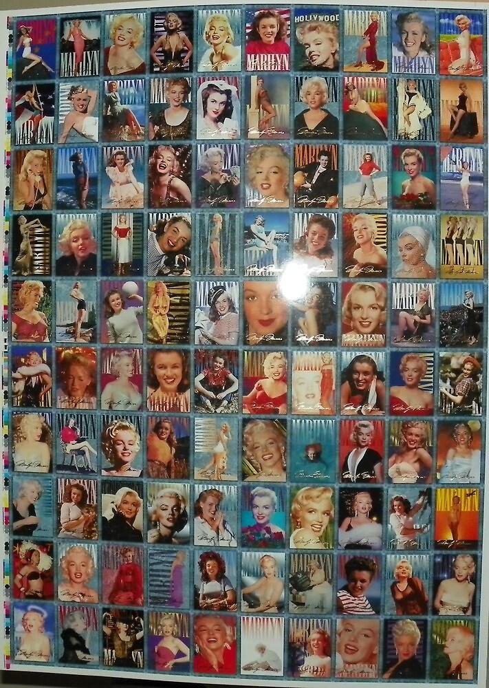 Marilyn Monroe - Uncut full sheet of Movie cards 1 by exportingarts