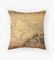 Zelda - map of Hyrule (plain old) Throw Pillow