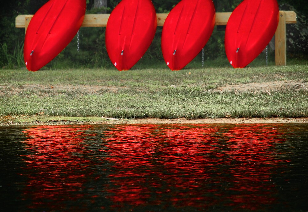 Red Boats and Their Reflections by Nazareth