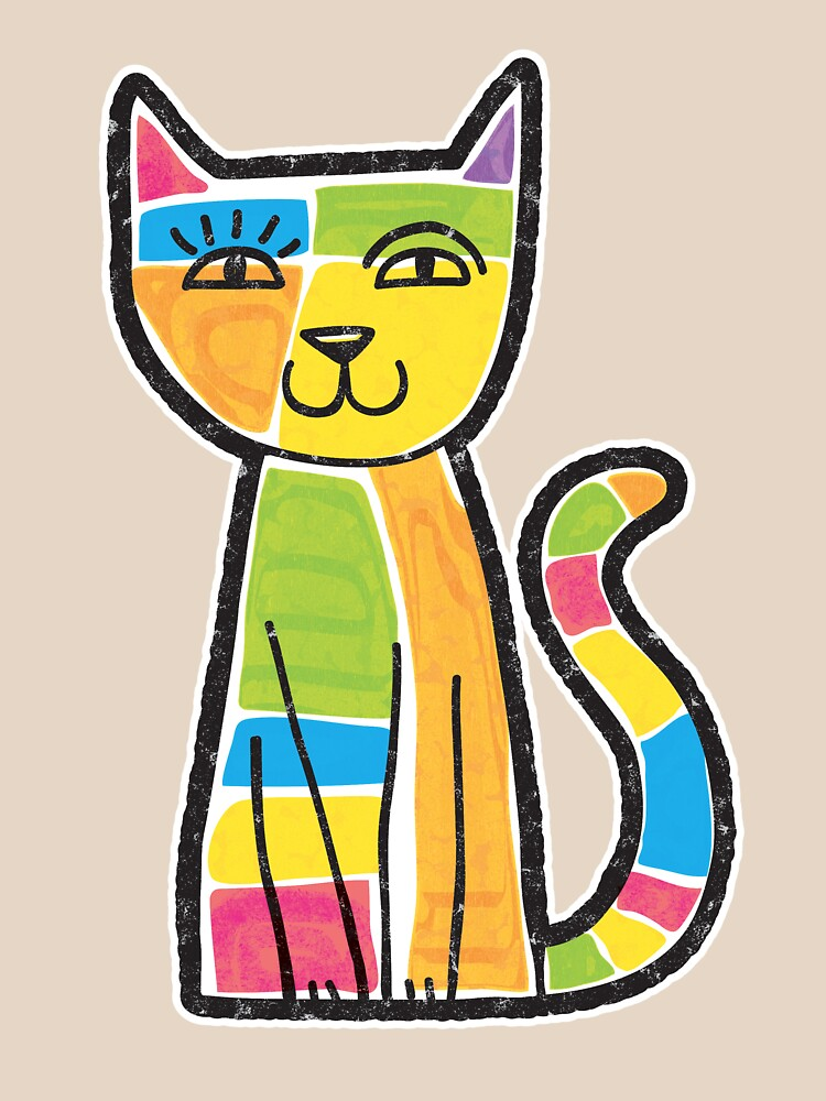 Colorful Cat by ZapBrand