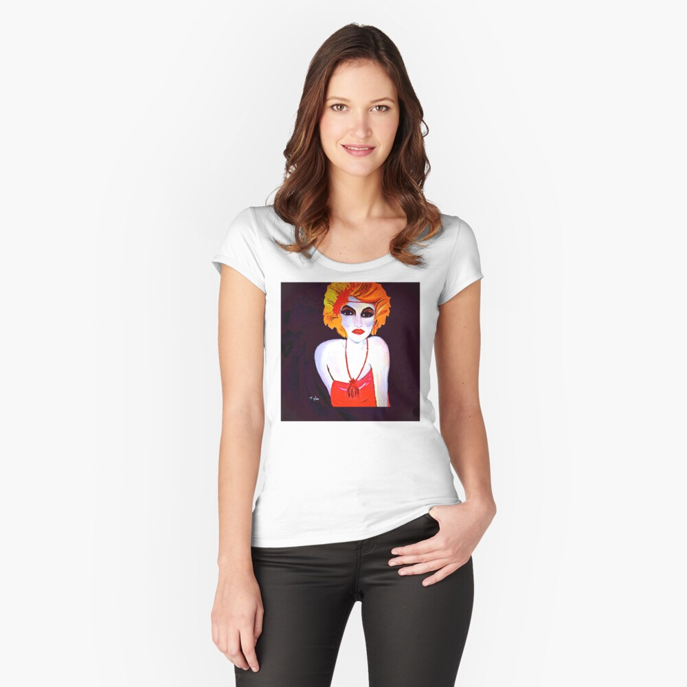 The Red Headed Flapper Girl II Women's Fitted Scoop T-Shirt Front