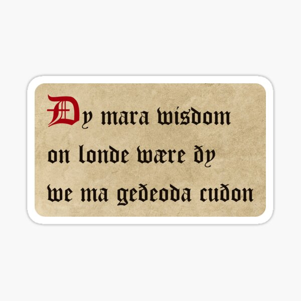 There would be more wisdom in the land, the more languages we knew Sticker