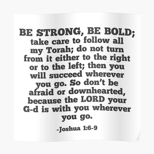 Be Strong  Be Bold Poster