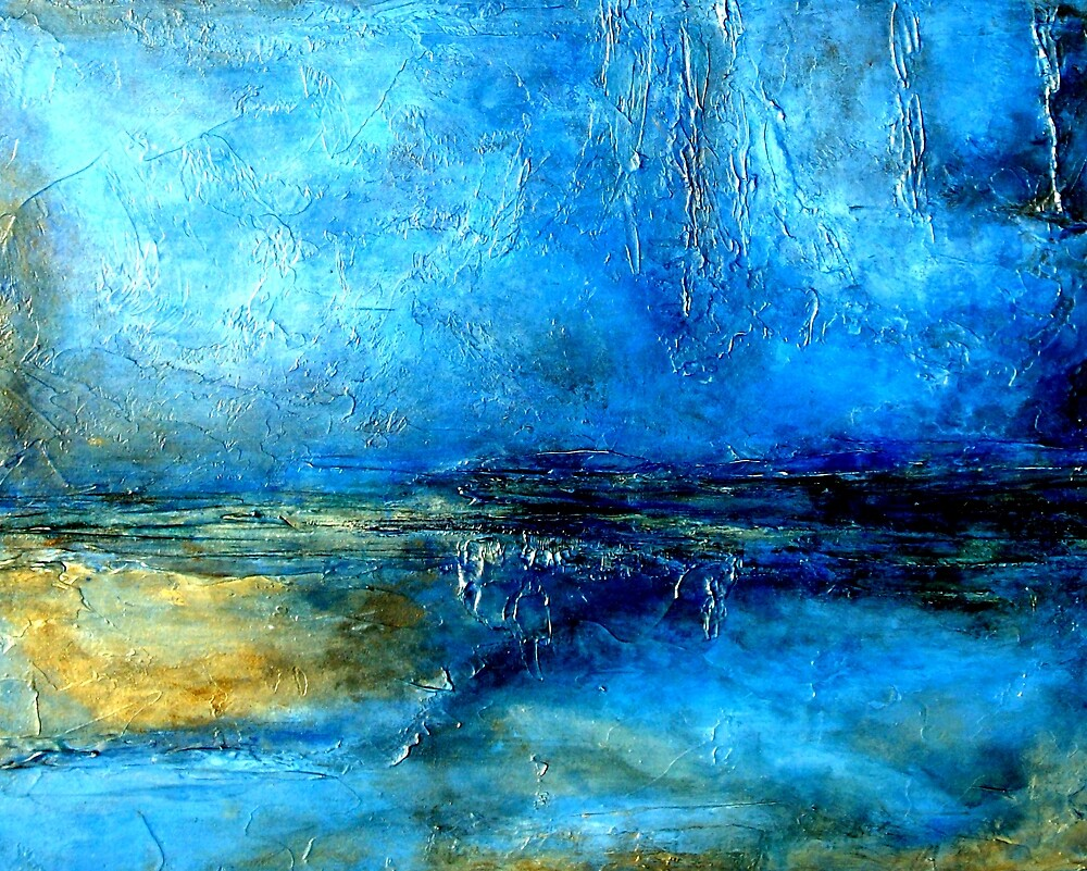 Quot Abstract Landscape Painting Desert Lightning Quot By