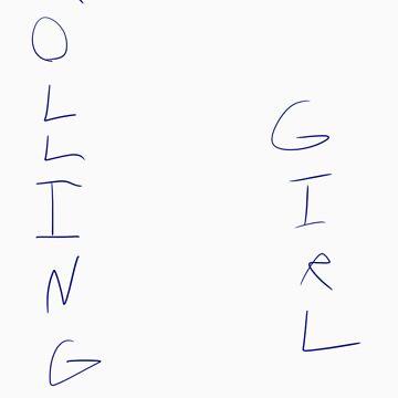 Rolling Girl by BabyRainicorn