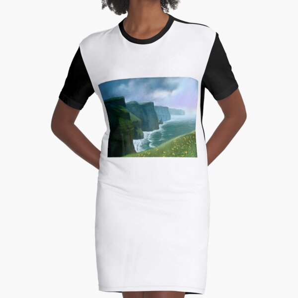 The Cliffs of Moher Graphic T-Shirt Dress