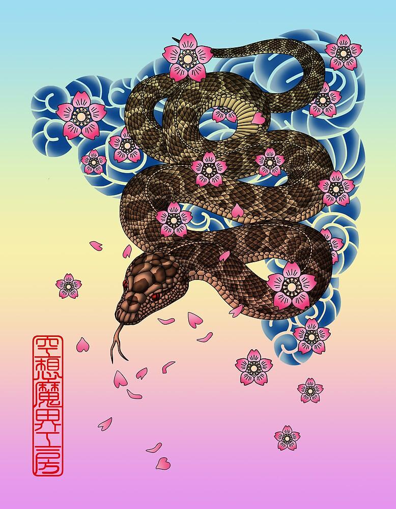 tattoo snake  by kuuma