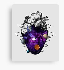 Heart of universe  Canvas Print