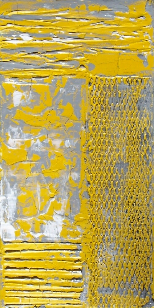 Contemporary Yellow and Grey Art Set by Holly Anderson by hollyanderson