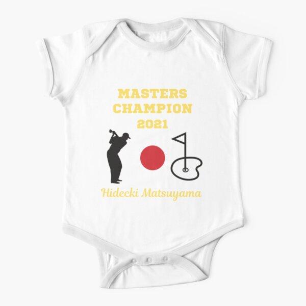 Masters Champion 2021 Hideki Matsuyama  Short Sleeve Baby One-Piece