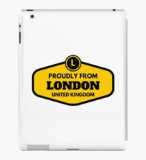 Proudly From London United Kingdom iPad Case/Skin