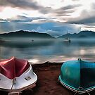 Hulls of Boats And Marmaris Winter Seascape by taiche