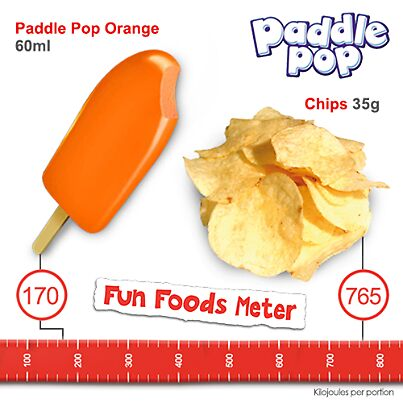 Paddle Pop Orange versus Chips by PaddlePop