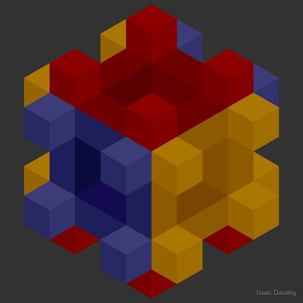 Cubes On Cubes in Cubes by Isaac Dawley
