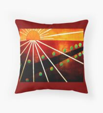 straight road  Throw Pillow