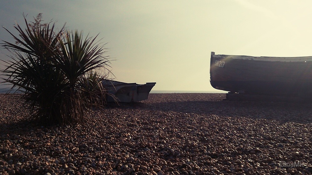 Small Boat By The Sea by ElinaMic