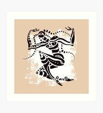 Ethnic dancer. Art Print