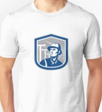 Power Lineman Repairman Shield Retro T-Shirt