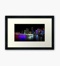 Circular Quay - Vivid Sydney Framed Print