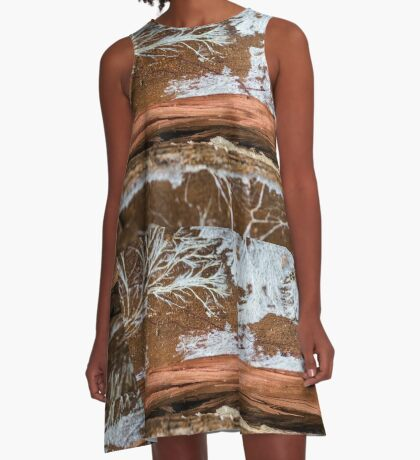 The wood draws trees - Reflecting the Nature it was A-Line Dress