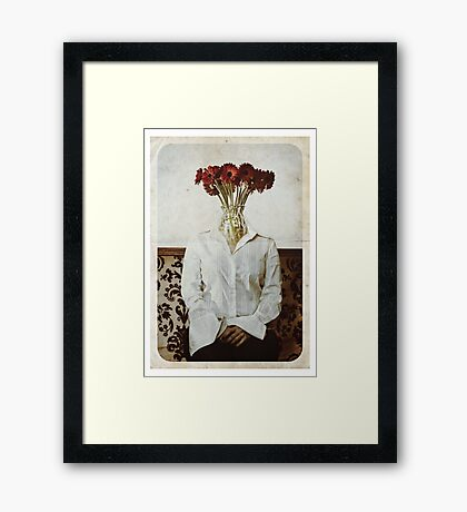 Still Life with The Faceless Woman Framed Print