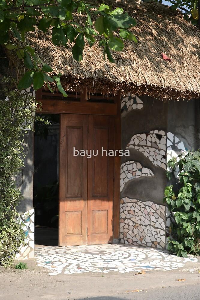 brown wooden gate by bayu harsa