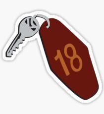 Motel Keys Large Sticker