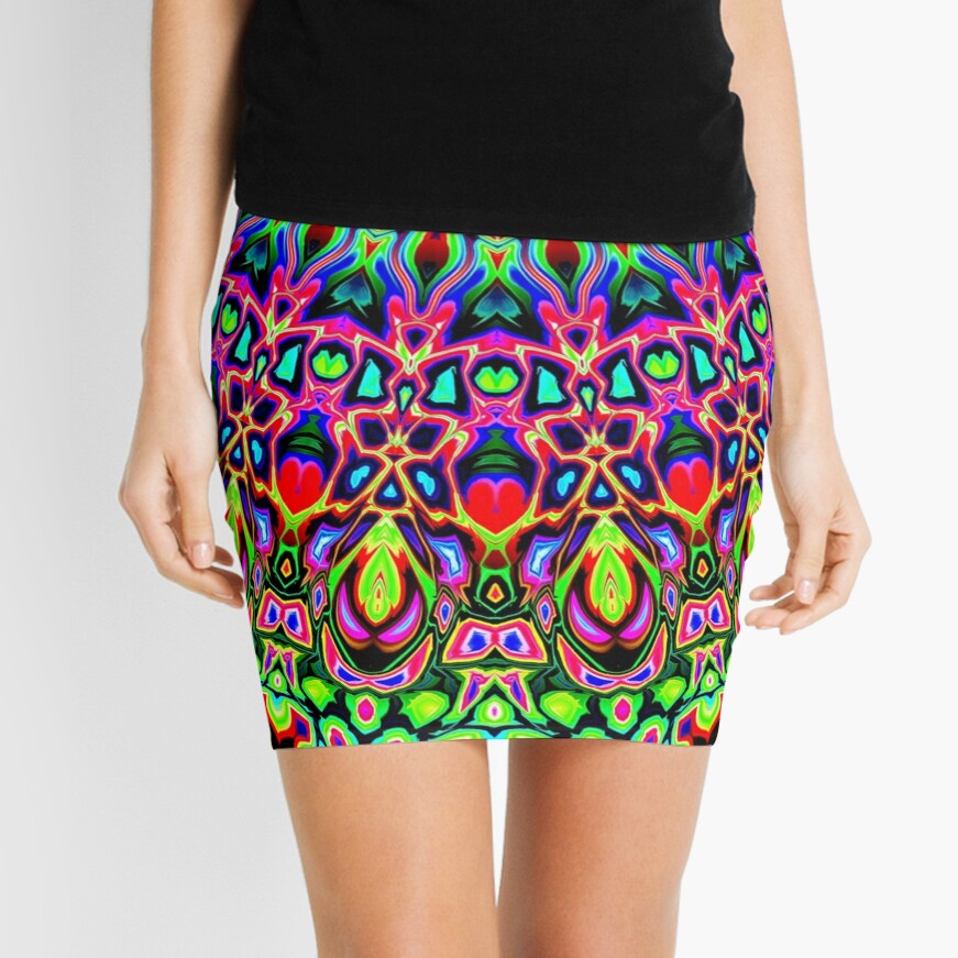 Colorful Concentric Abstract Mini Skirt