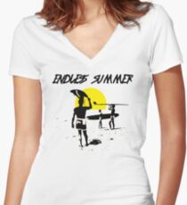 ENDLESS SUMMER - CLASSIC SURF MOVIE Women's Fitted V-Neck T-Shirt