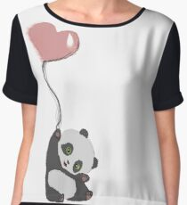 Panda And Balloon Chiffon Top