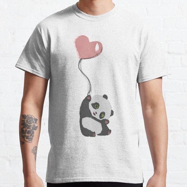 Panda And Balloon Classic T-Shirt